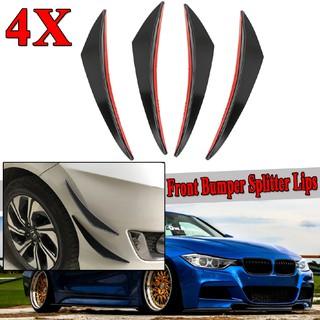 6Pcs Car Bumper Lip Splitter PVC Fins Body Spoiler Canards Refit Gloss Black