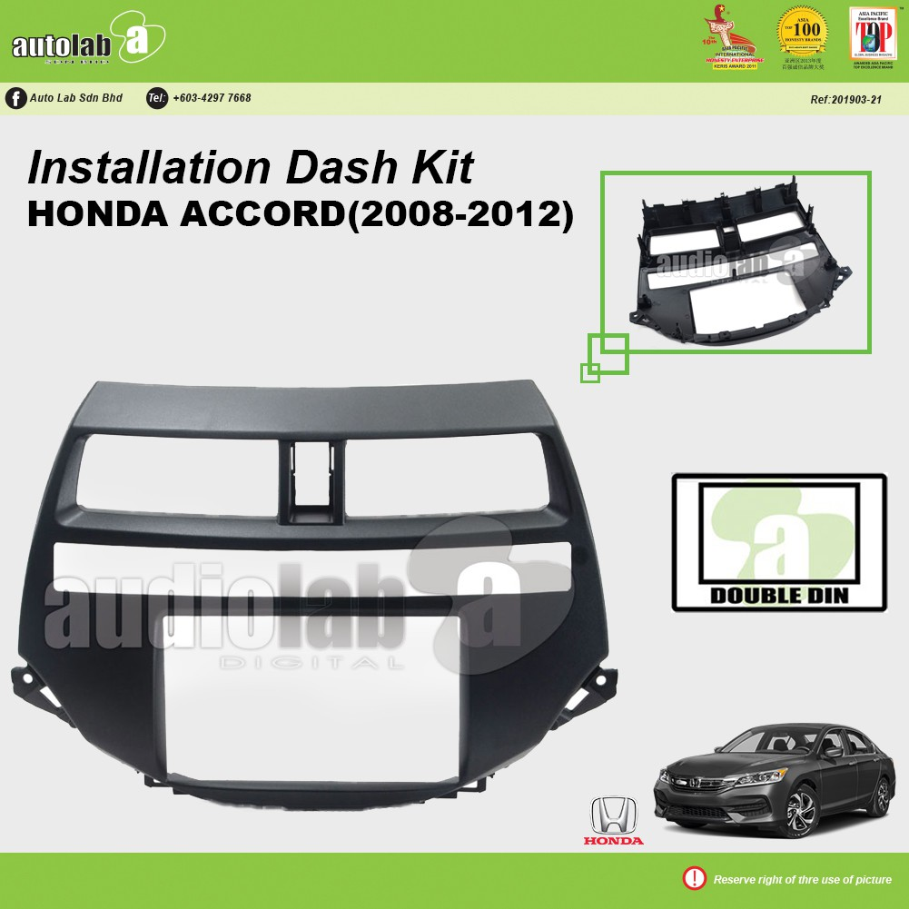 Player Casing Double Din Honda Accord 2008-2012