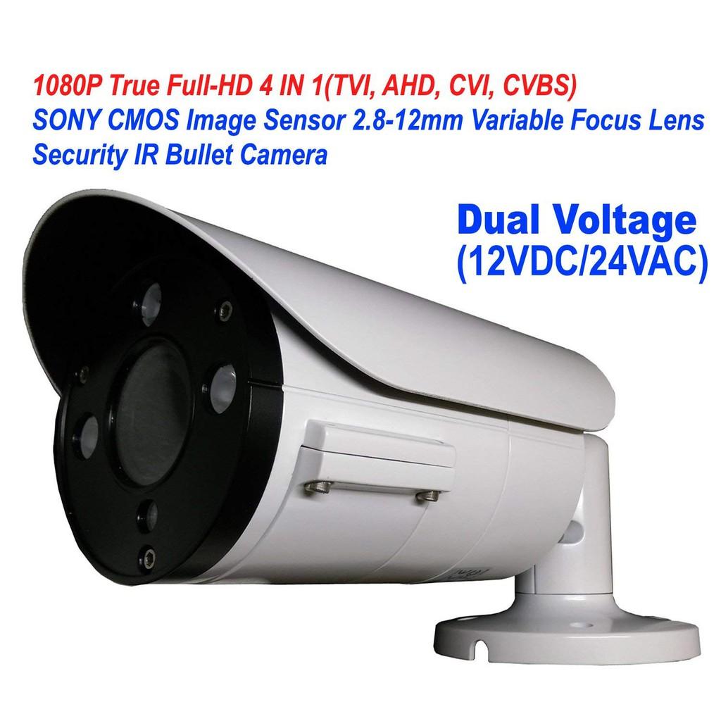 101AV 1080P True Full-HD Security Bullet Camera 4IN1(TVI, AHD, CVI, CVBS)  2 1Meg