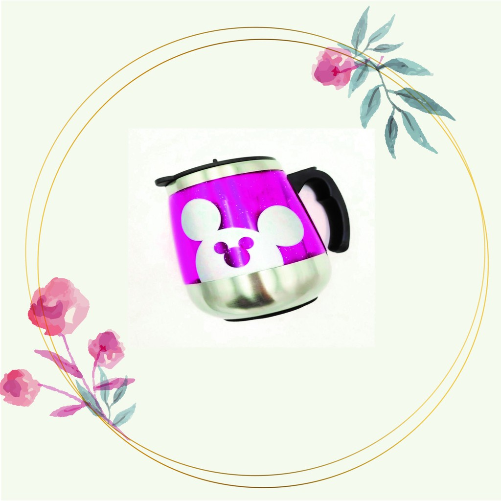 [READY STOCK] Cute Cartoon Insulation Cup with Handle/Anti-slip