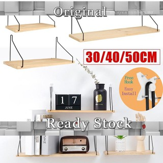 various colors 94499 e9d02 IKEA Wooden Wall Shelf Board Bedroom Wall Hanging Storage Rack Wall  Decoration