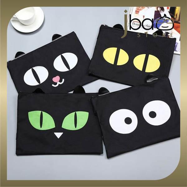 Cat Emotion A4 Document File Organizer Zip Folder Bag