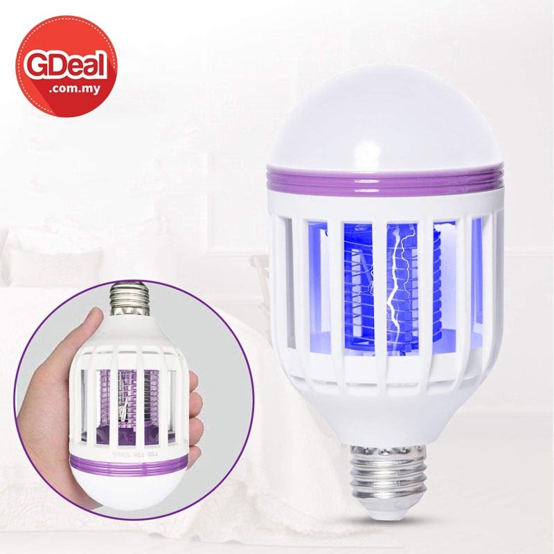GDeal LED Electric Shock Mute Mosquito Lamp Fly Bug Killer Repellent Lamp Insect Pest Catcher LED Light