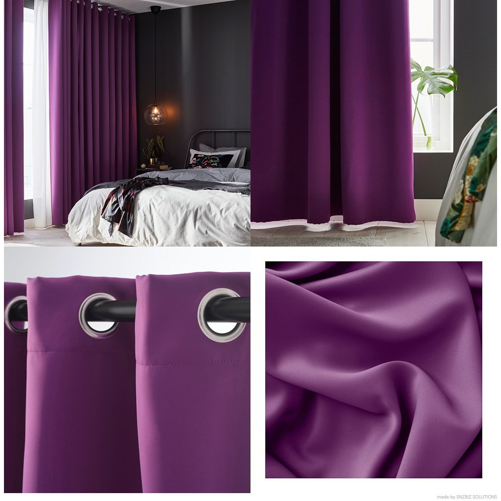 IKEA HILLEBORG Block-out curtains, 1 pair | Shopee Malaysia