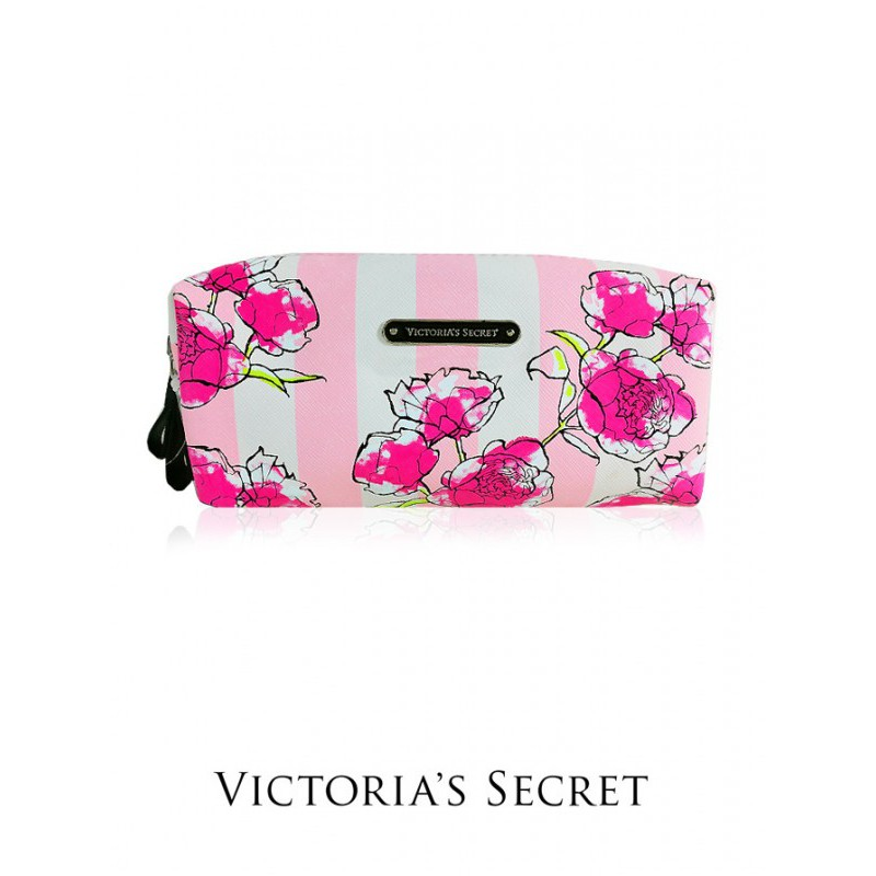 056ce6fbf0 V046   AUTHENTIC VICTORIA S SECRET FLORAL LONG COSMETIC POUCH (PINK ...