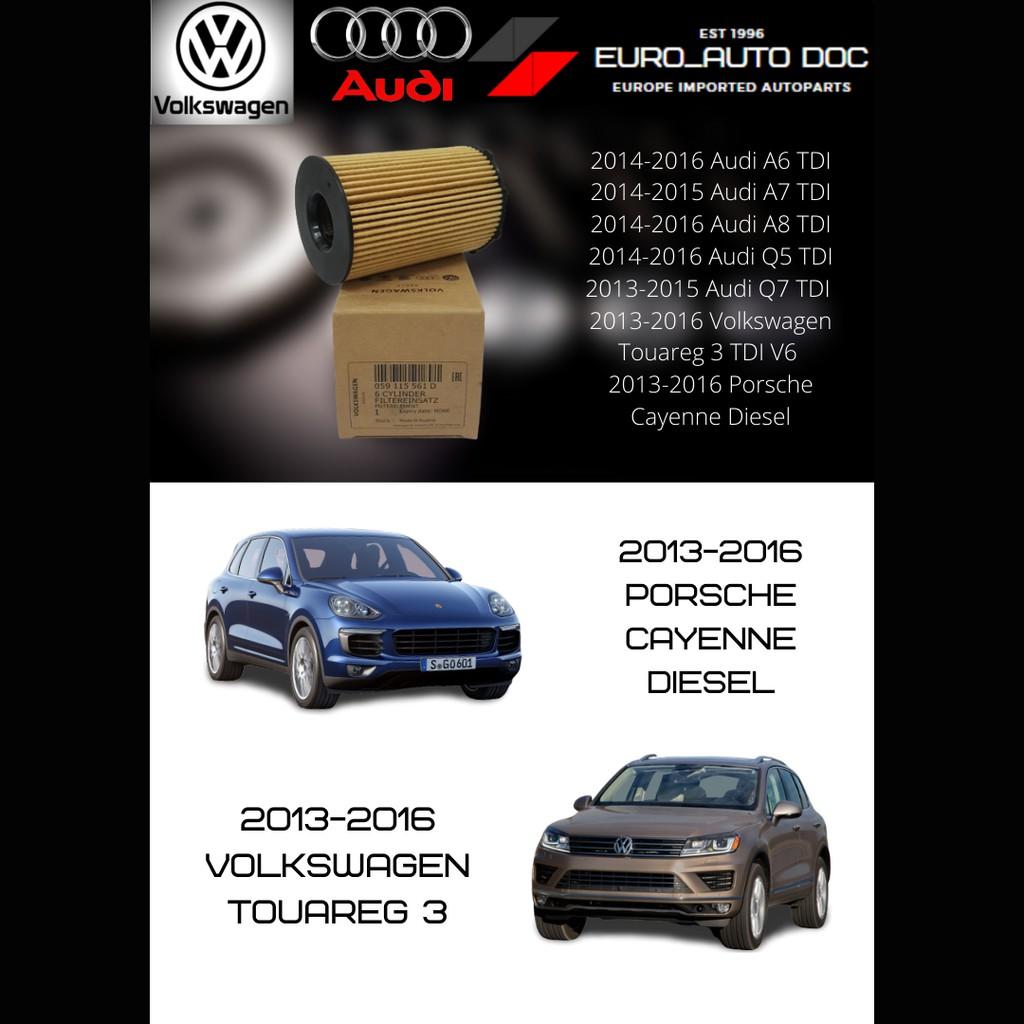 100 Ori Volkswagen Audi Porsche Oil Filter Audi A6 A7 A8 Q5 Q7 Touareg 3 Tdi V6 Porsche Cayenne Diesel 059115561d Shopee Malaysia