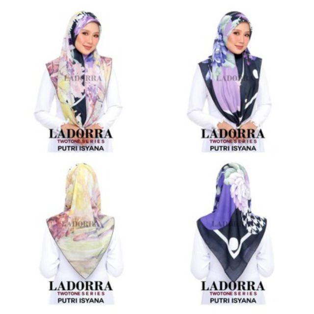 Ladorra Sophia Luna/Casabella/Syahrini/Mimi Safari/Dayana Aisya/Putri Isyana Tudung Bawal Printed Bidang 45