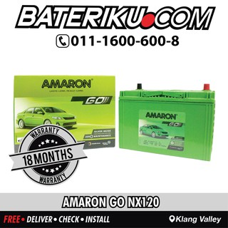DIN55 Amaron Car Battery with Free Delivery & Installation