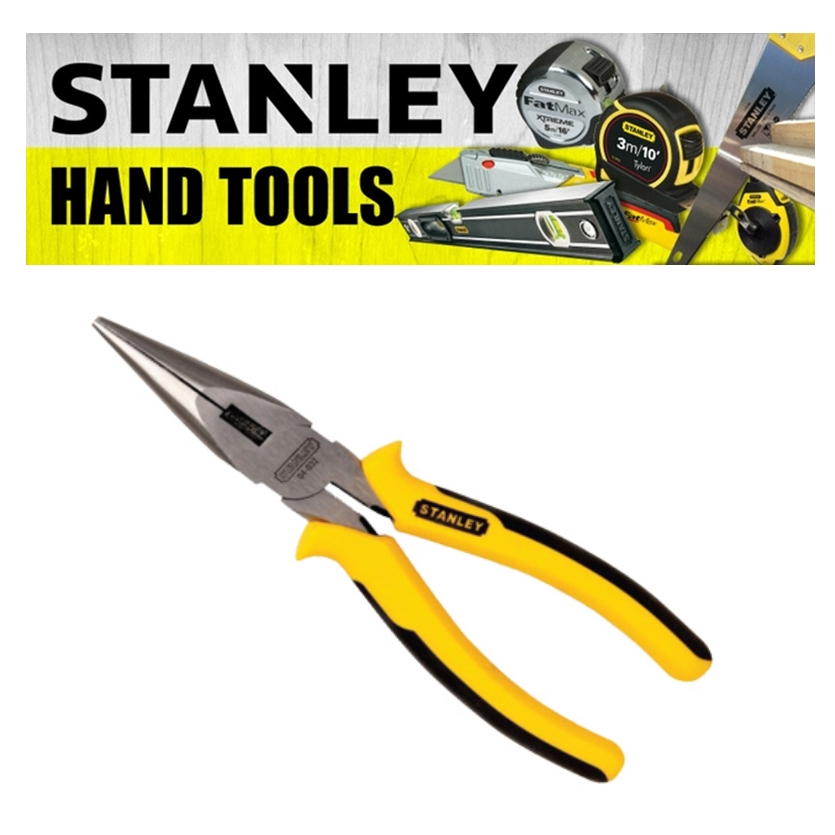 STANLEY 6' LONG NOSE PLIERS 8' PLIERS HD LONG NOSE CARBON STEEL POLISHED