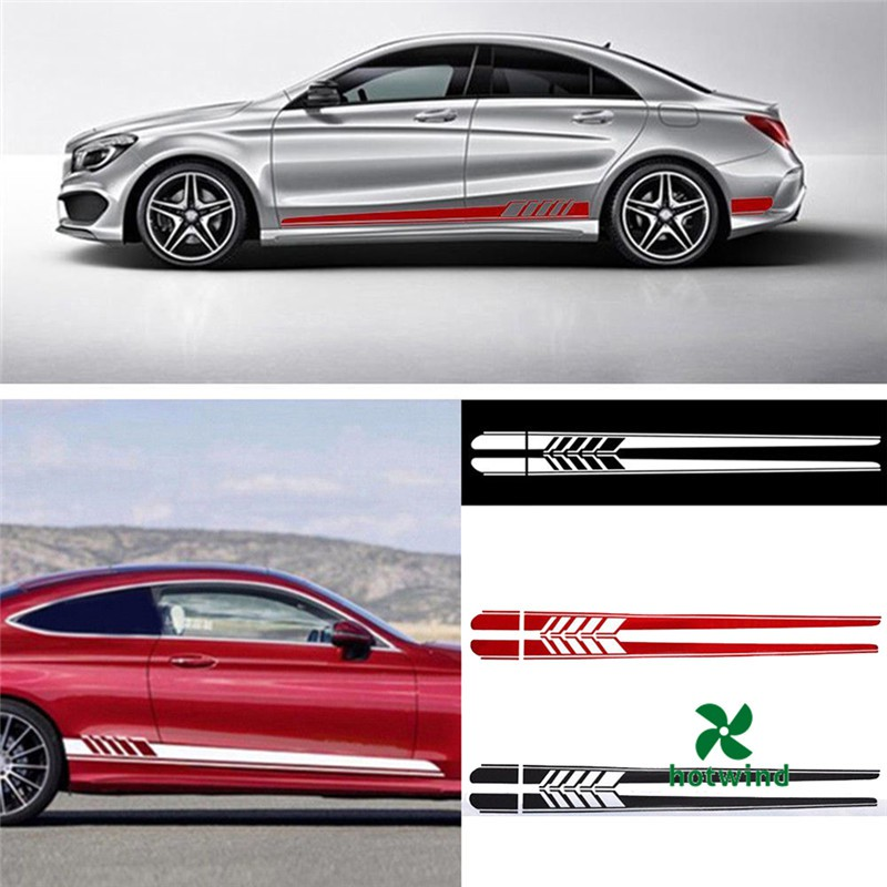 2x Hot Auto Car Decal Vinyl Graphics Side Stickers Body Decal Sticker Waterproof