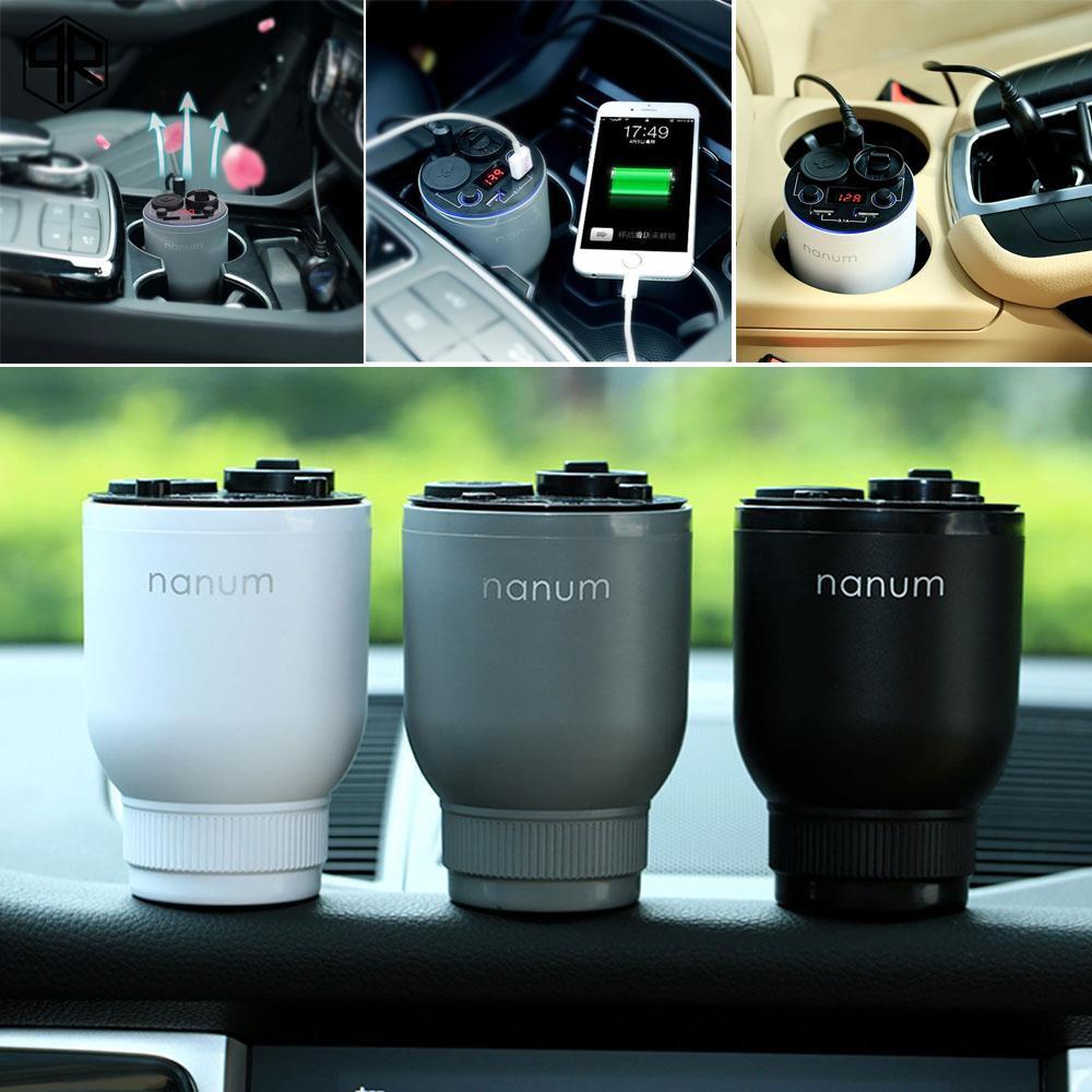 Qr Air Purifier Essential Oil Diffuser Portable Dual Usb Nanum Parfum Car Humidifier Shopee Malaysia