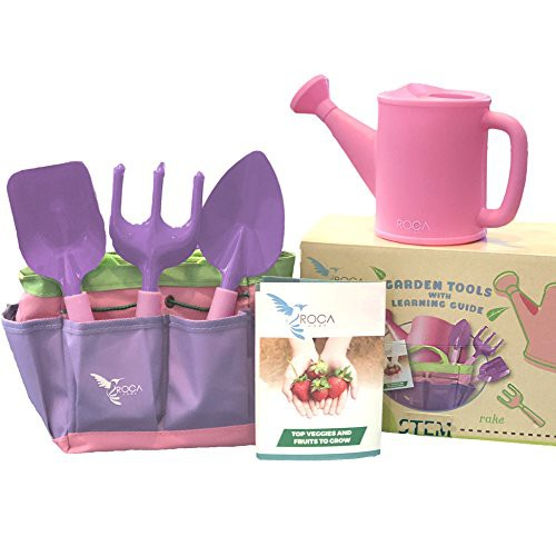 Pink Gardening Tools For Kids With Stem