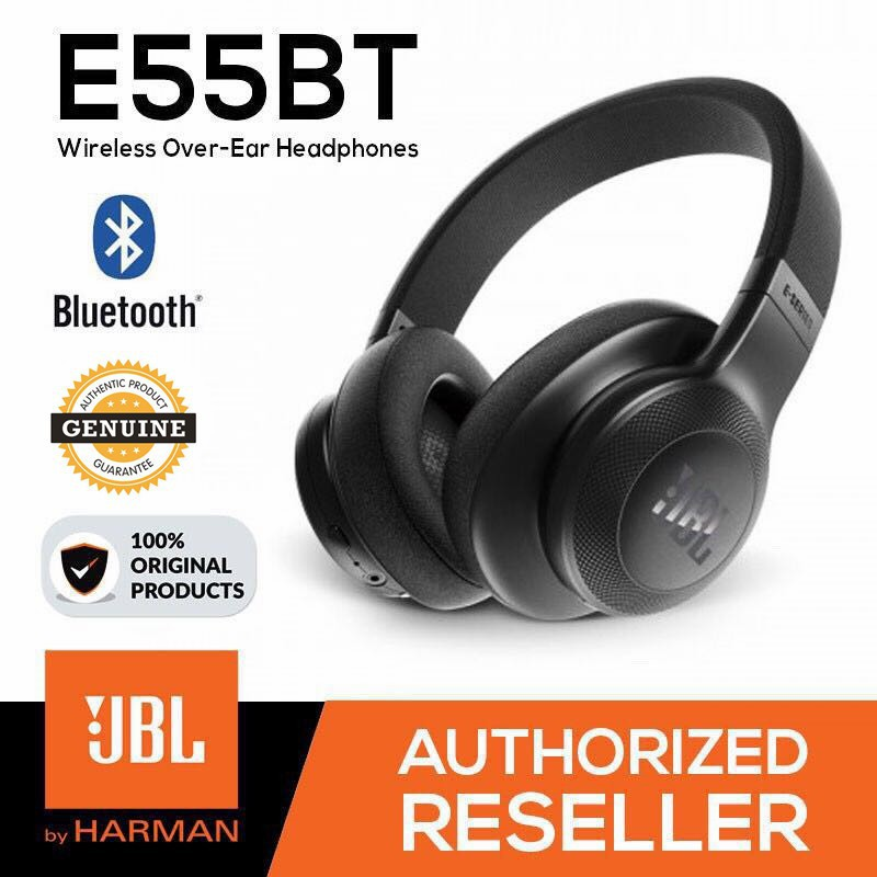 Jbl E55bt Bluetooth Wireless Headphones Music Hifi Bass Headset With