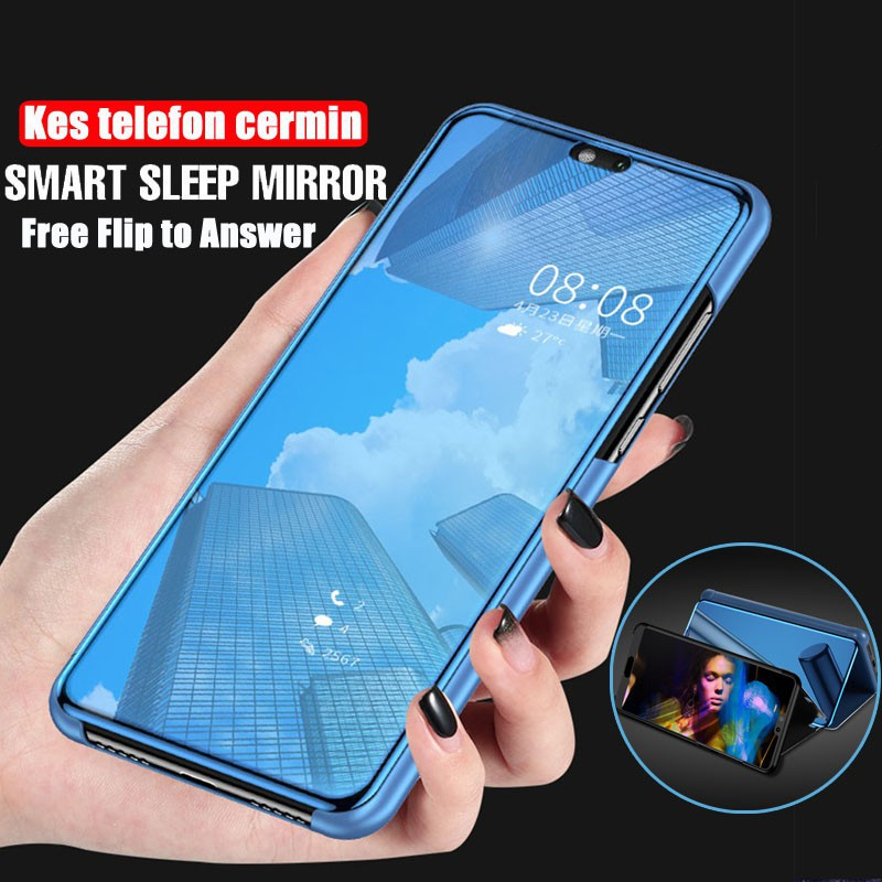 huge selection of 9444a 8f82e Huawei P20 Pro P20 Smart Flip Cover Stand Flip Case Answer Call Casing