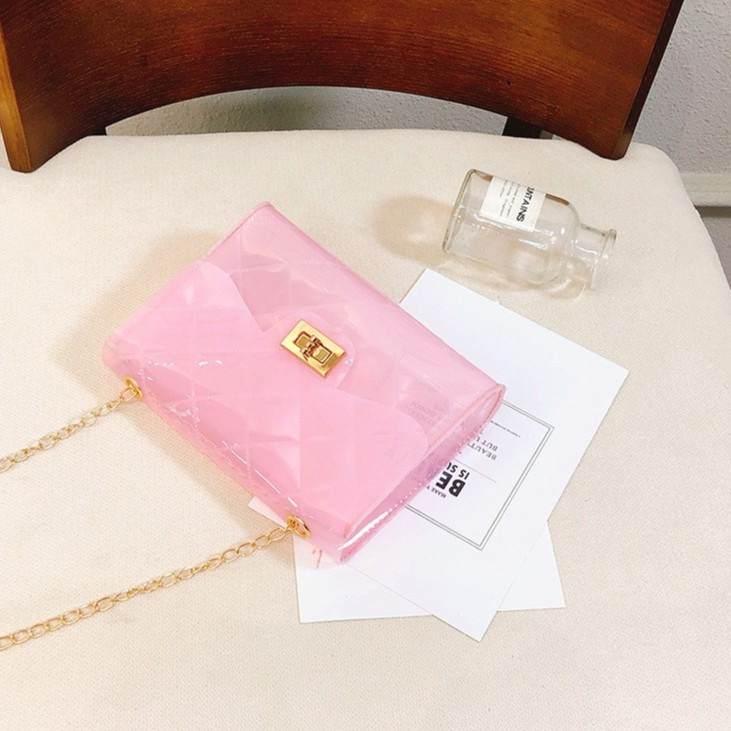 Colourful Ladies Women Casual Sling Bag Jelly Type Shoulder Bag 少女气质果冻色斜背包包 B00142
