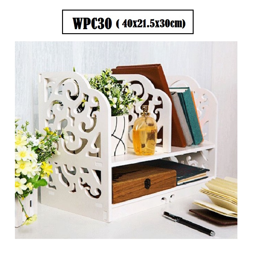 [ READY STOCK ]  Waterproof Wpc Drawer Cabinet Storage Rack Furniture Perabut Almari Jualan Murah Kitchen Spice Simpanan