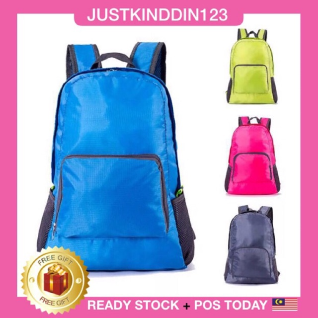 READY STOCK+Multi-function Waterproof Foldable Travel Backpack