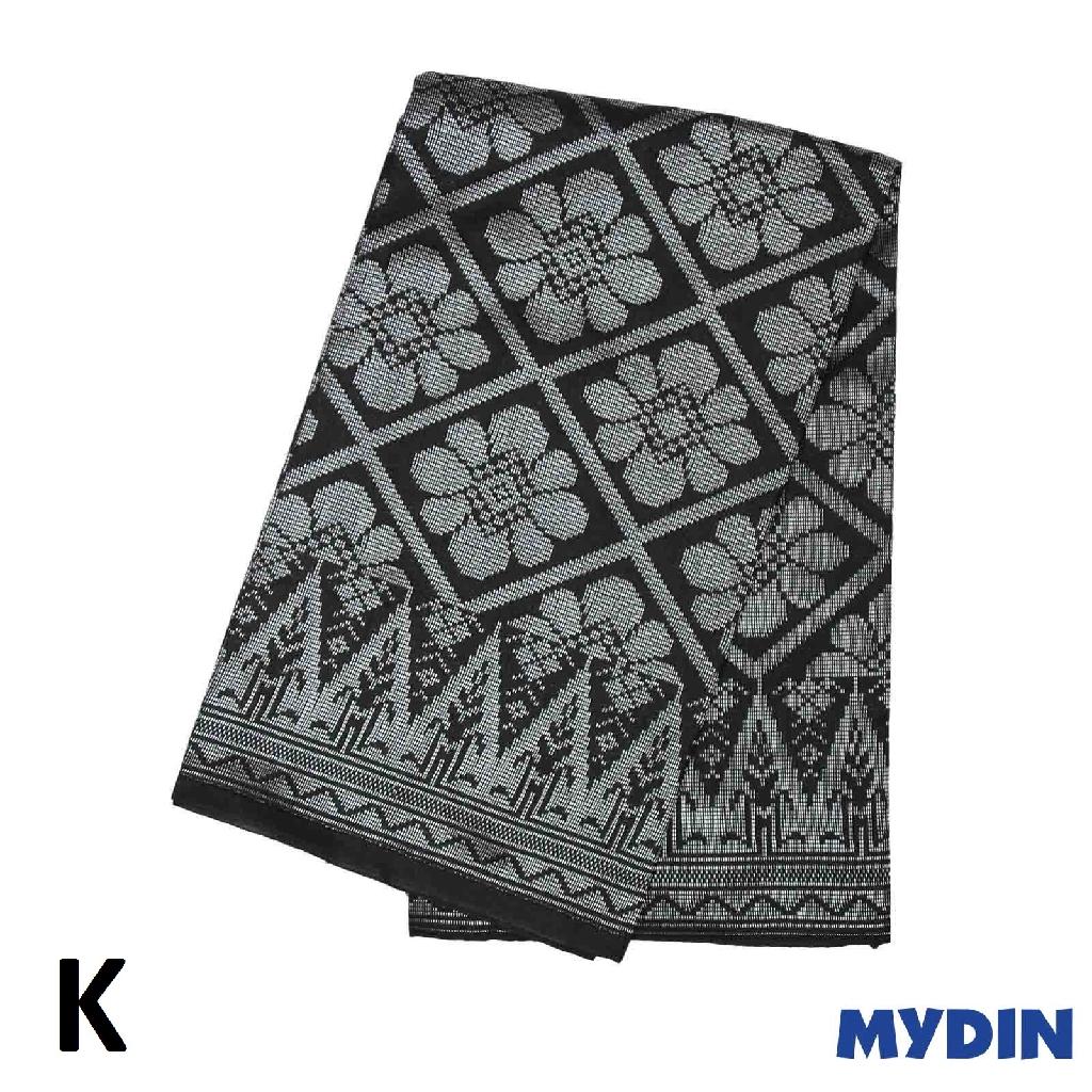 "Men Sampin - Silver on Black with Designs (2m X 32"") 0819SRLXBP02 - K #Raya"