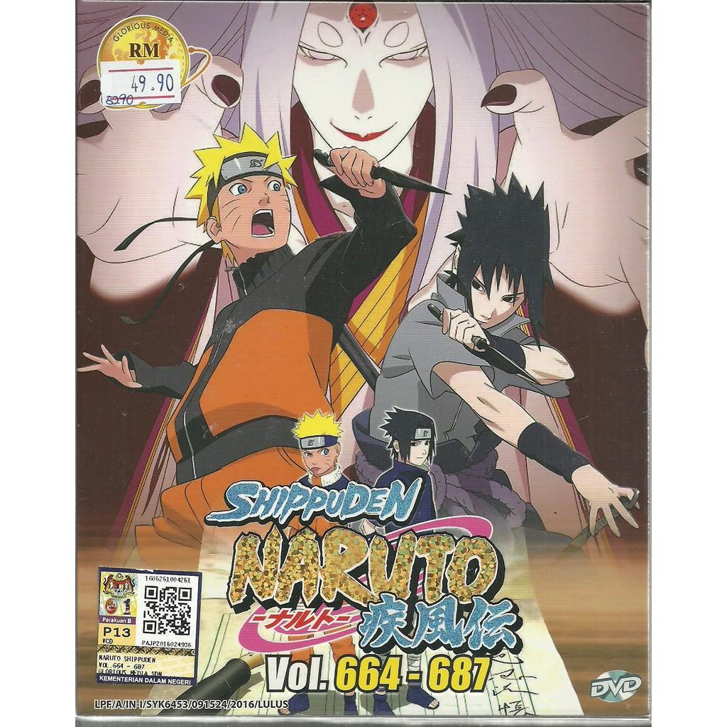 NARUTO SHIPPUDEN (BOX 23) - COMPLETE ANIME TV SERIES DVD BOX SET (664-687  EPIS)
