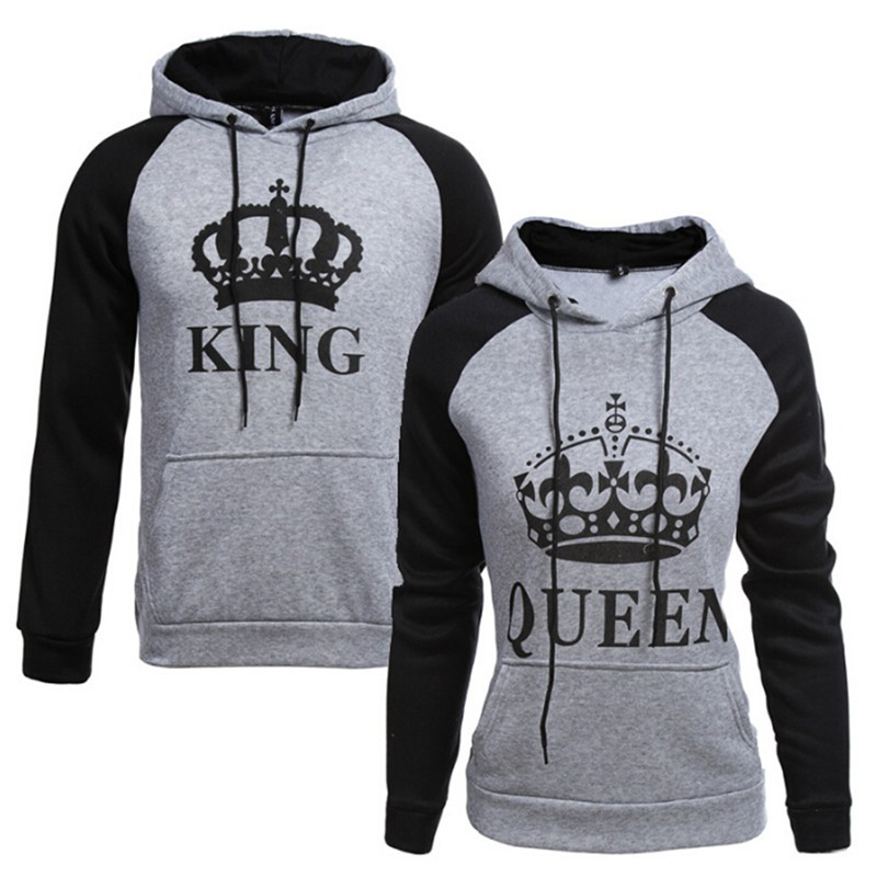 43475e7e34 NBY❤❤King Queen Print Hoodie Sweatshirt Couple Lover Matching Jumper  Sweater T | Shopee Malaysia