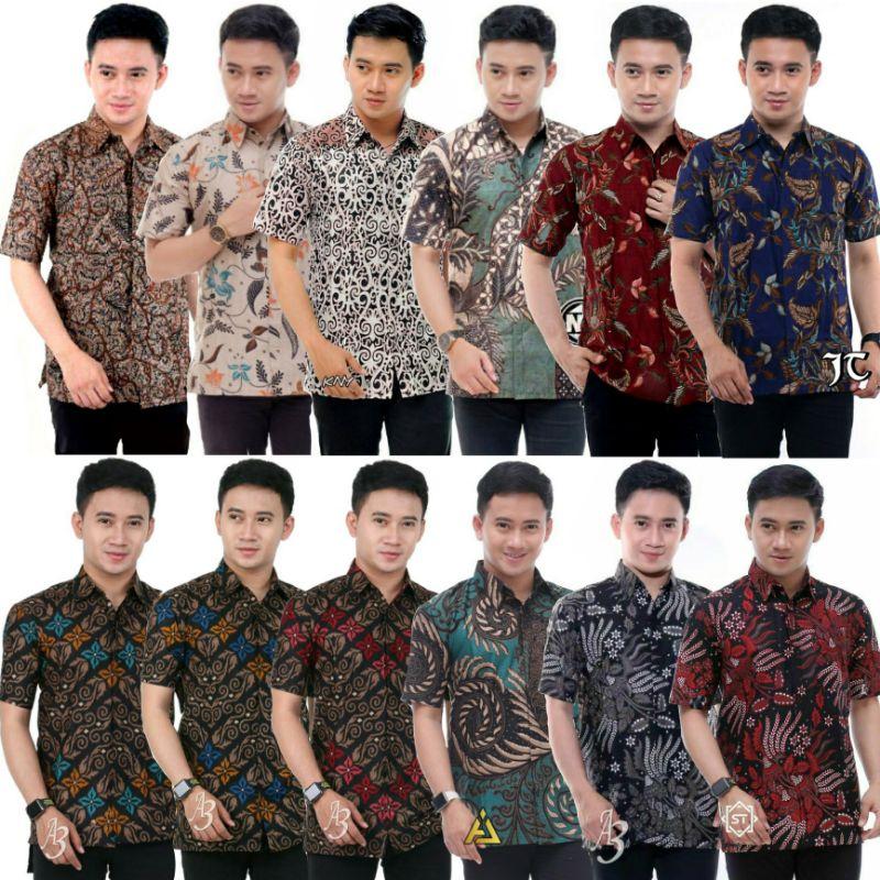 [RESTOCK]‼️KEMEJA BATIK LELAKI LENGAN PENDEK Batik Shirt Baju Batik Lelaki Size Malaysia Batik Indonesia