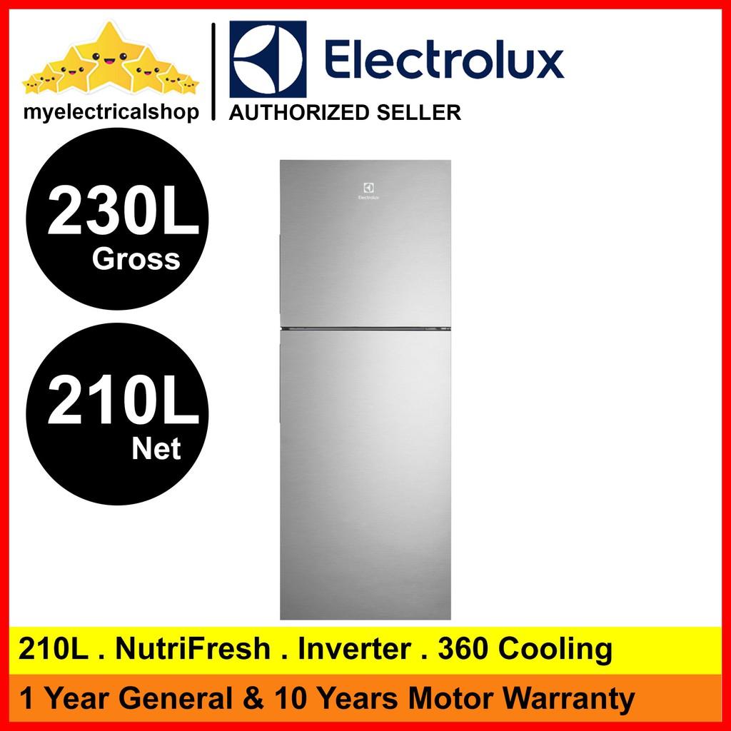 ( MALACCA ONLY ) Electrolux Fridge ETB2302 / ETB2302H / ETB2302H-A 210L Nutri Fresh Inverter Refrigerator