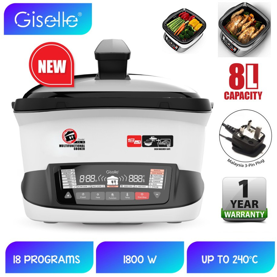 Giselle 18-in-1 Instant Multi-Function Cooker 8L capacity KEA0321