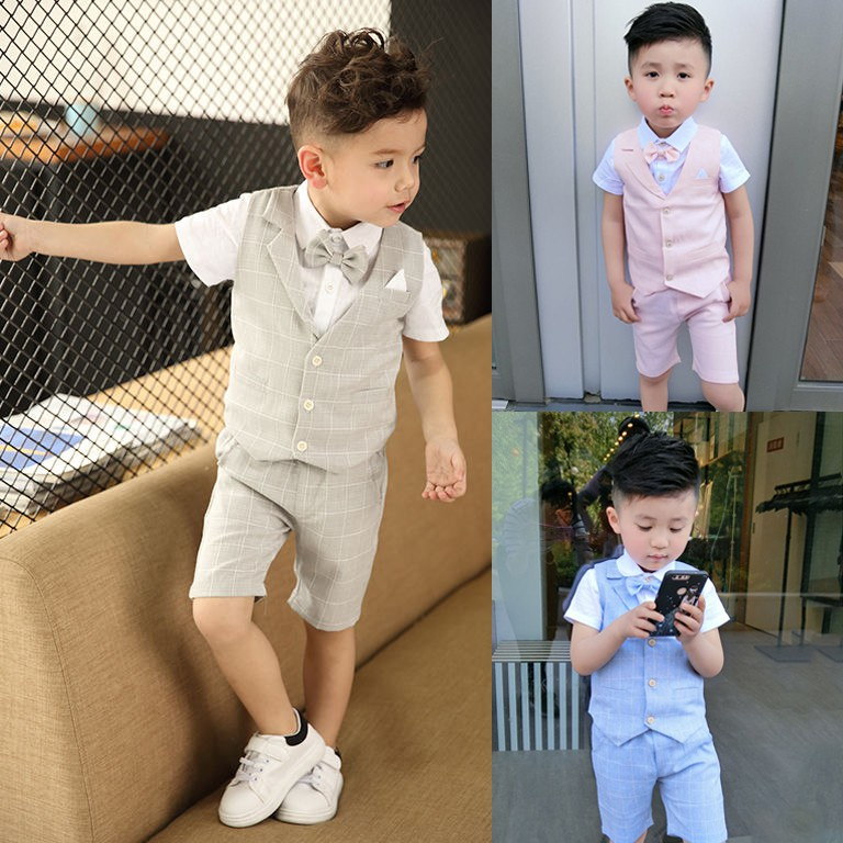 4pcs Kids Baby Boys Outfit 3pc T-shirt+Denim Pants Jeans Set Kids Casual Clothes