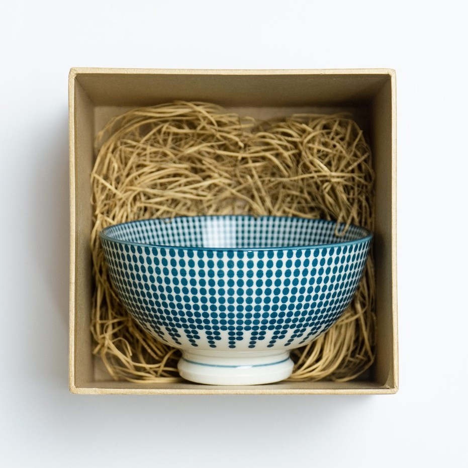 11.5cm Yale Blue Underglaze Colour Japanese Bowl Ceramic Bowl Mangkuk Jepun 日式古典风陶瓷碗