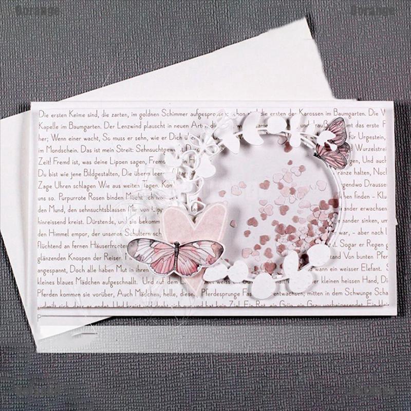 1x Butterfly Happy Birthday Die Cut Paper Cards Making DIY scrapbooking decor Bn