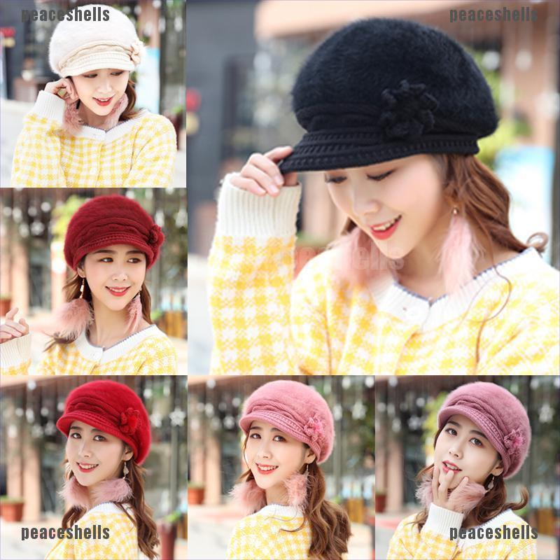 Mens Womens Trendy Fashion Hats Stylish Cap Peak Visor Winter Woolly Beanie Hat