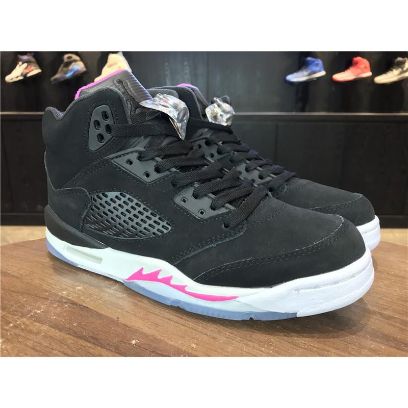 27fb64f95aefea Nike Men s high top Women s Basketball Shoes Air Jordan 5 White Cement AJ5