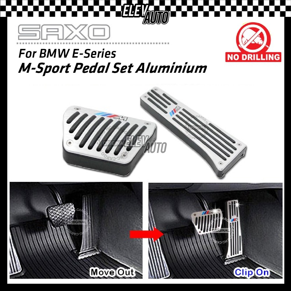 SAXO BMW E-Series E Series M-Sport Pedal Set Aluminium (Automatic Transmission) Except for SMG Model