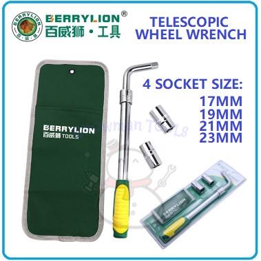 TELESCOPIC WHEEL WRENCH ADJUSTABLE WHEEL WRENCH BERRYLION BRAND 4 SIZE NUT SOCKET THREAD HANDLE BERRYLION 100% ORIGINAL