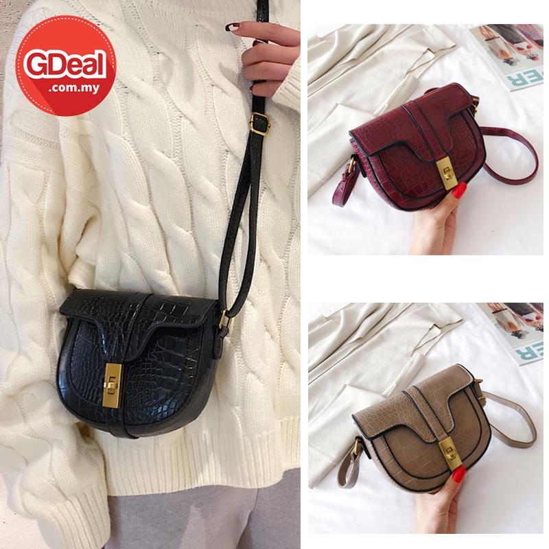 GDeal Korean Fashion Crocodile PU Leather Shoulder CrossBody Messenger Sling Bag Beg Wanita بيڬ وانيتا
