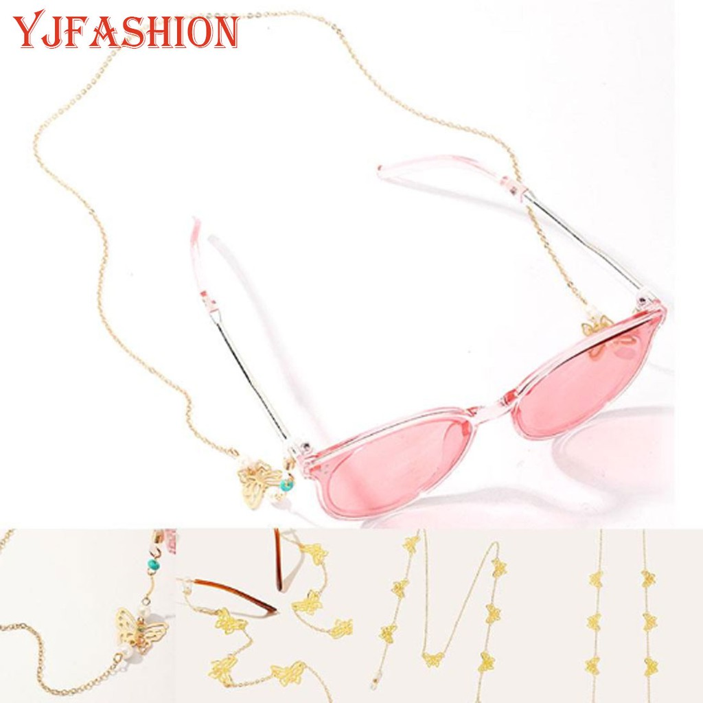 YJFASHION Women's Eyeglass Chains Sunglasses Reading Glasses Chain  Butterfly Rope Holder | Shopee Malaysia