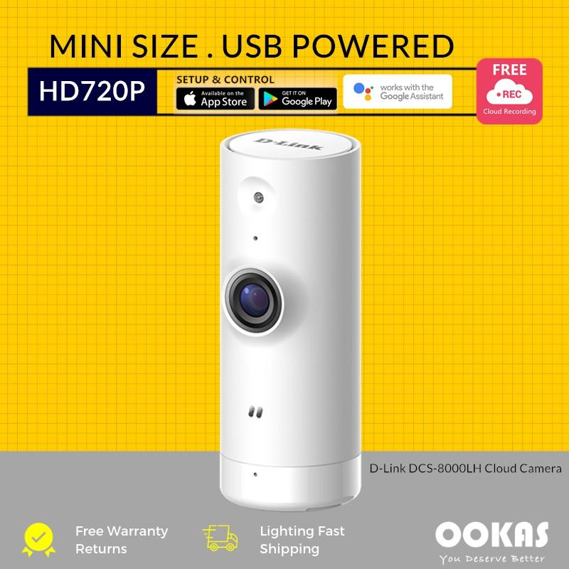 D-Link Mini HD WiFi Wireless USB Cloud Recording Camera DCS-8000LH CCTV