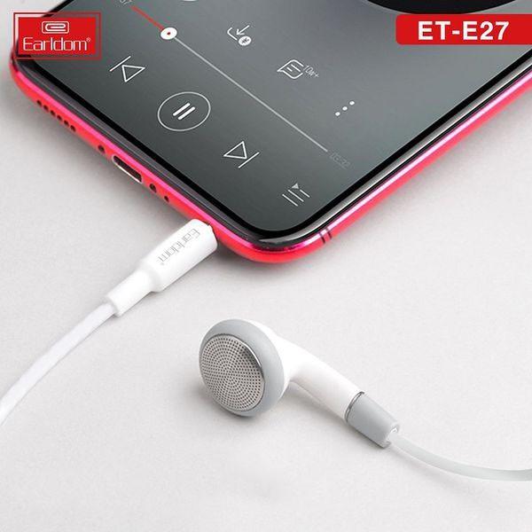 EARLDOM ET-E27 STEREO EARPHONE 3.5MM AUDIO JACK