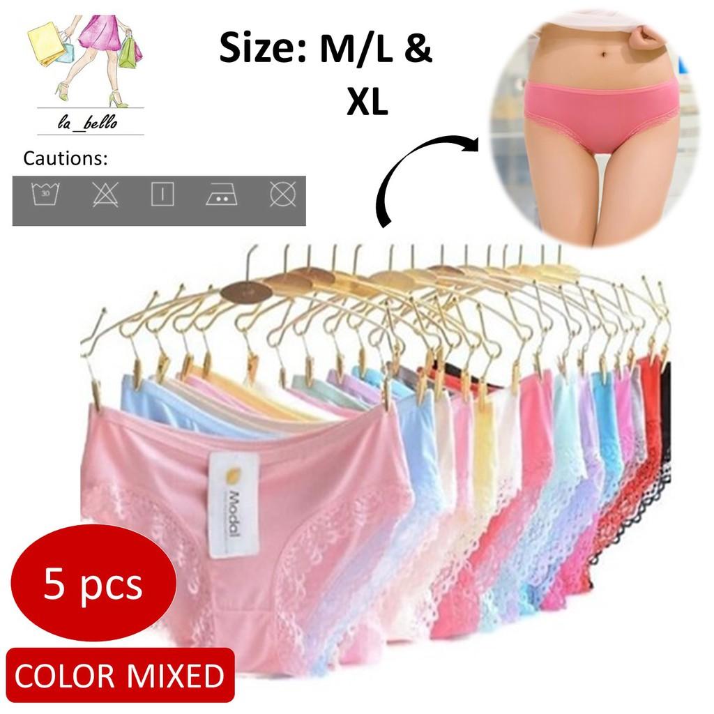 0e12e4372a5 Multi Colour 100% Cotton Stretchable Lace Women Comfortable Panties ...