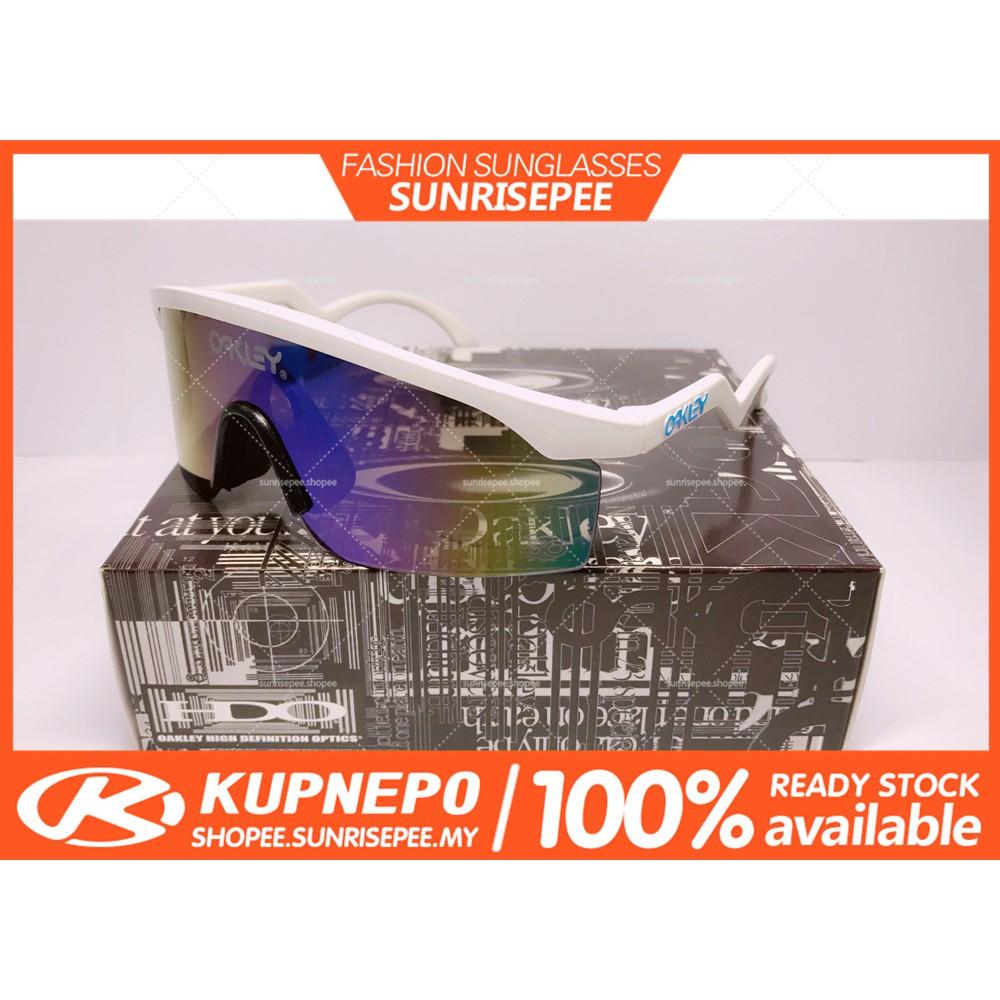 25e0d5f39e Oakley Sunglasses Crankshaft Polarized right Black Blue Mercury Lens glasses