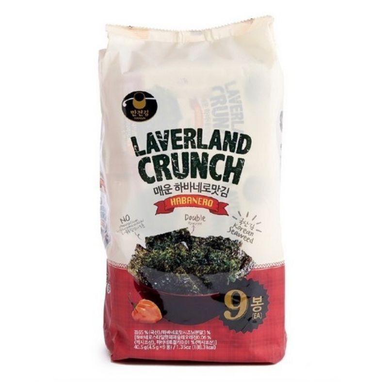 Korea Manjun Laverland Crunch Seaweed 4.5g x 9 (3 Flavour)