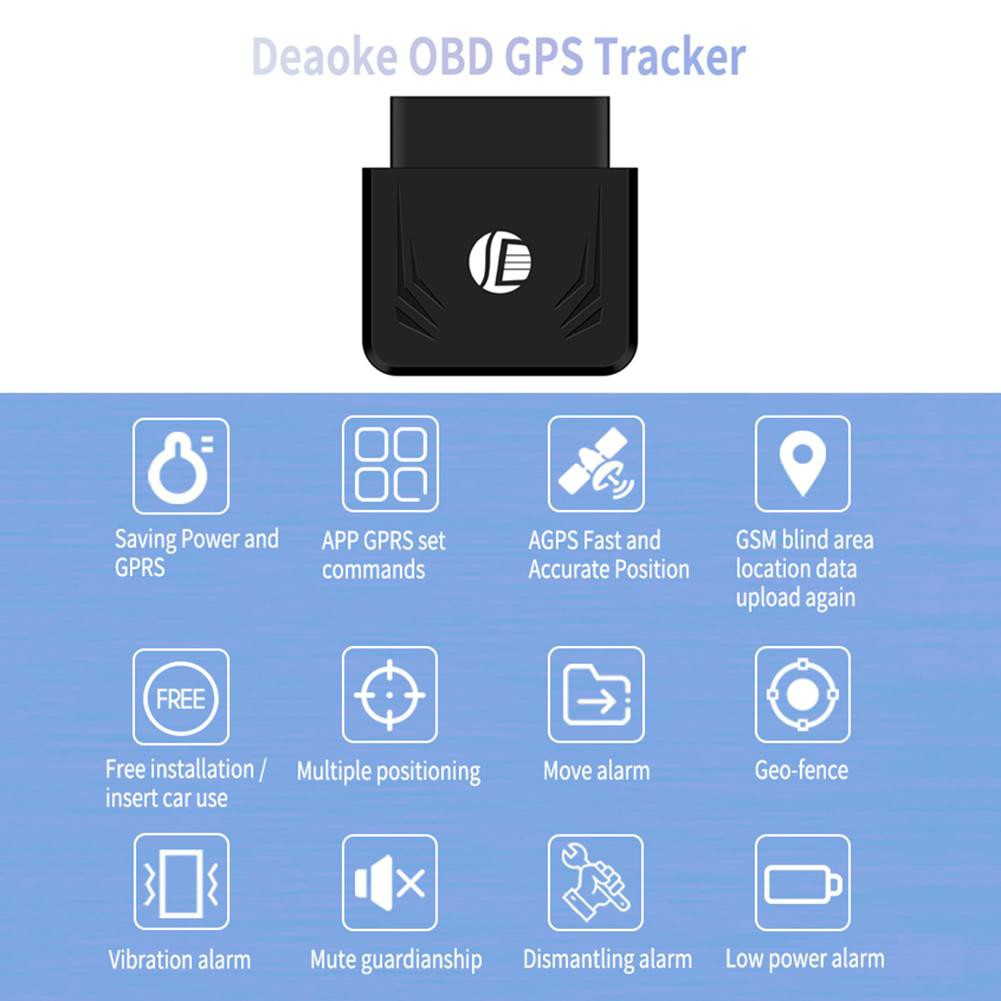 TK306 OBD GPS Tracker Car GSM Vehicle Tracking Device OBD2 16Pin Locator