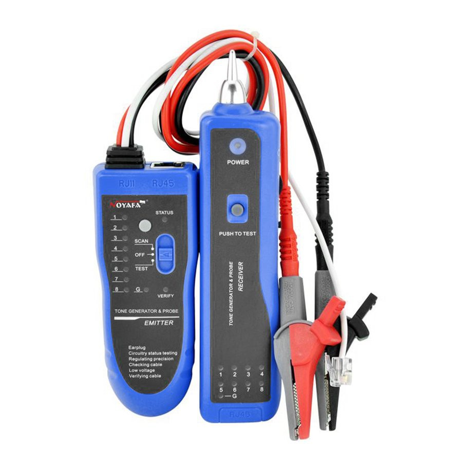 NF-889 Network Cable Checker Wire Sniffer Tester RJ45 RJ11 Cable Tracker | Shopee Malaysia
