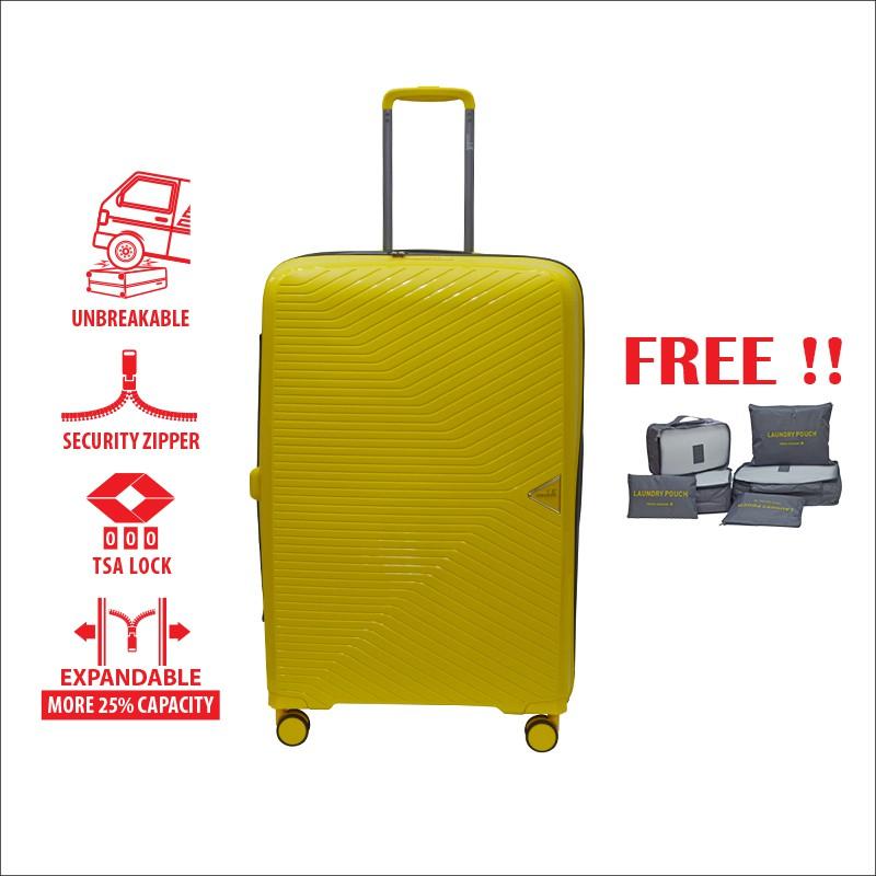 "Condotti Lightweight PP Hard Case C-IU (28"") [Free 6 in 1 Pouch Bag]"