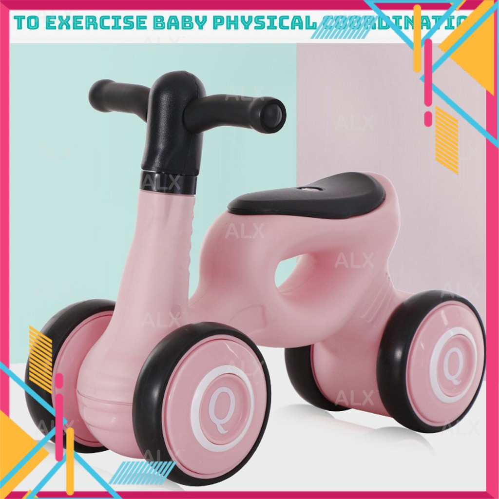 4 Wheels Trainer Toddler Bicycle Walker Children Balance Learning Fun Bike Outdoor Sport Scooter