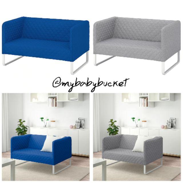 Seat Sofa Blue Grey Knopparp