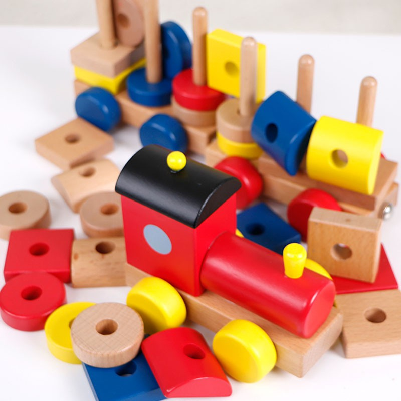 Childrens Toys Wood Magnetic Building Blocks Track Train 1 3 6 Years Old Baby B