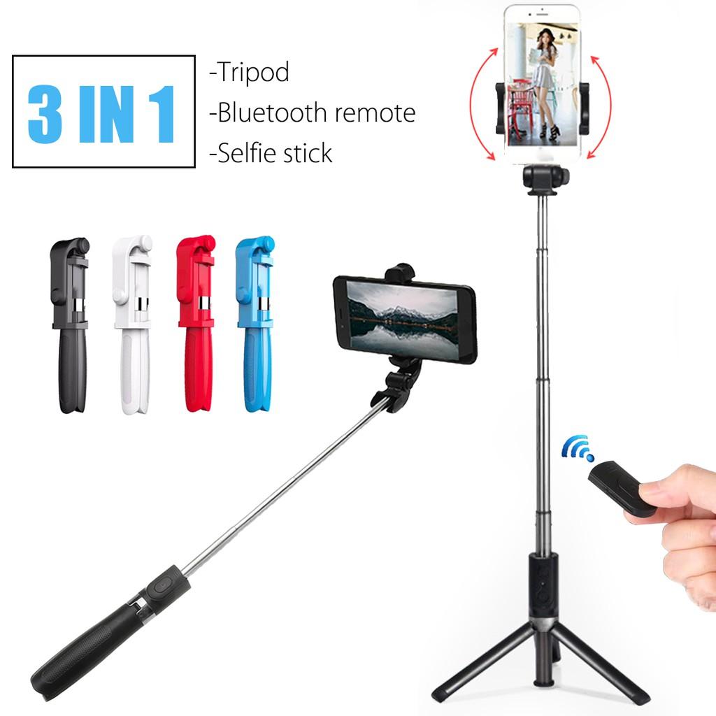 3 In 1 Yunteng Vct 1608 Bluetooth Remote Shutter Portable Selfie Tongsis Tripod Stick Shopee Malaysia