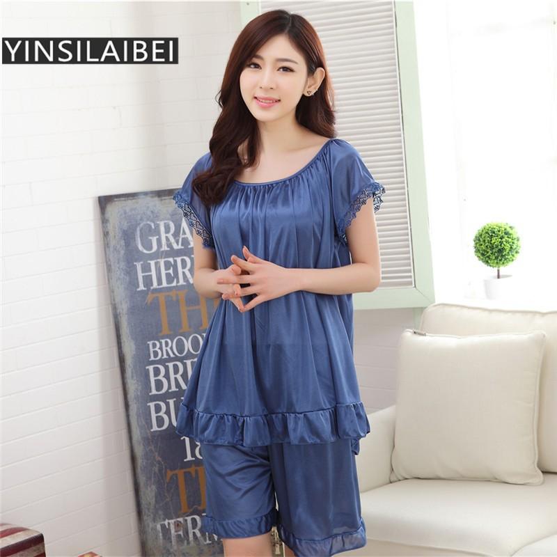 Ladies Summer Ice Silk Nightgowns Sleeveless Sexy Women Sleepwear Lingerie   abc871e74