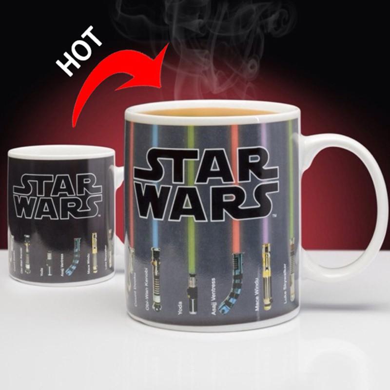 Lightsaber Porcelain Heat Reveal Ceramic Mug Coffee Tea Colorful War 300ml Star nX80wOPk